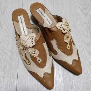 日本低跟穆勒鞋closed toe mules