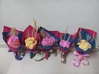 生日花束,送禮花束,絲帶花,手工花,環保花,100蚊一扎