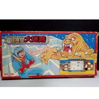 絕版 經典 1989年 EPOCH LCD GAME 超時空大迷路