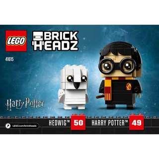 Harry Potter & Hedwig BrickHeadz