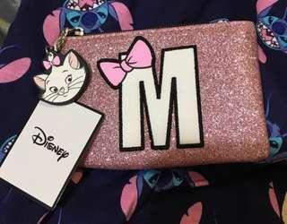🚚 Marie pink glittery pouch
