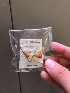 🚚 大理石紋耳環