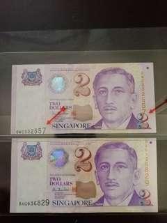 👍Error banknote Major shift in whole serial nos
