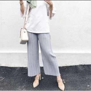 pleated pants #MFEB20