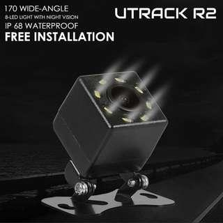 UTRACK R2 Backup Camera [Upgraded]Reversing Camera ,Reverse Parking Camera, LED Monitor, Angle Adjustable, Distance Scale Lines, Fog Resistant, Night Vision Camera