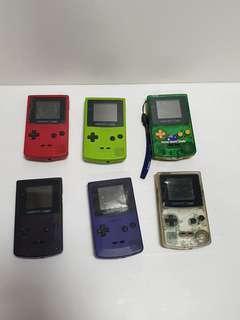 Vintage nintendo gameboy colour  game lot parts