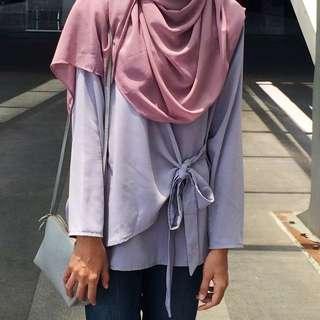 [REDUCED] blouse light purple #MFEB20