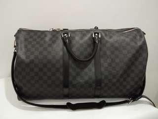 Louis Vuitton Keepall BANDOULIERE 55 Damier Graphite