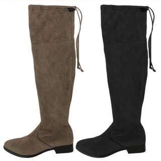 皮靴 long boots with defects Grey suede US 10 EUR 41 女靴 長靴 有瑕疵 平賣 大腿靴 No.53