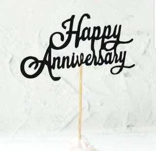 🚚 (3 for $7.50)Happy Anniversary Cake Topper
