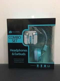 全新耳機 耳筒 套裝 Headphone Earbuds Combo Set