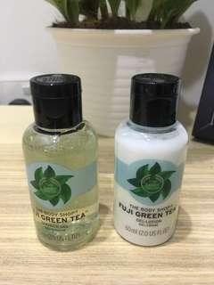 Fuji Green Tea Gel Lotion and Body Wash