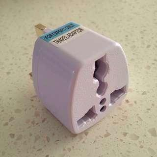 🚚 Universal Socket to UK Plug Travel Adaptor 2pc/set (free mailing)