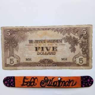 Malaya JIM 5 Dollars block MH