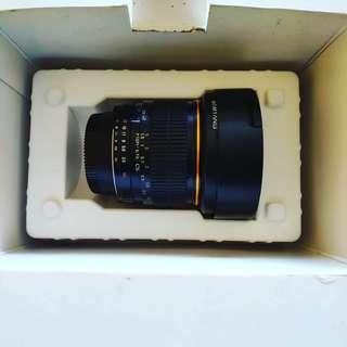 Dijual Lensa Fisheye Samyang  3.5/8 mm for Nikon + box + kantong Lensa .