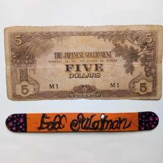 Malaya JIM 5 Dollars block MI
