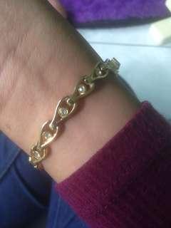 gelang titanium anti karat lapis emas ADA SURAT