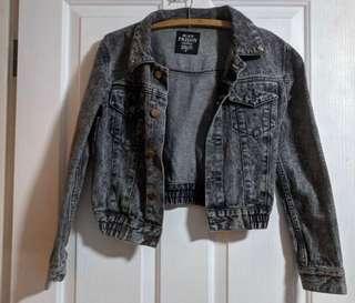 💕Black Denim Washed Cropped  Jacket