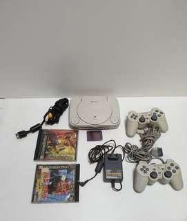 Vintage playstation psone game console