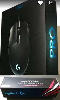 Logitech - Mouse and Pad