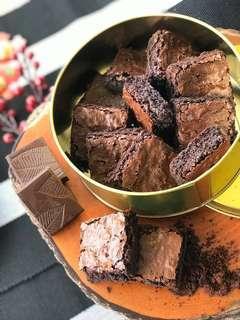 Dark Choco Fudge Brownies #valentines