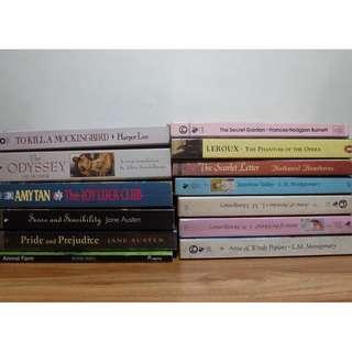 DECLUTTERING - BOOKS FOR SALE ( CLASSICS )