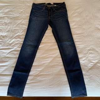 9成新 Abercrombie&Fitch A&F 深色 牛仔褲 直筒褲 6號 6r W28