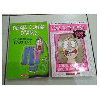 2 Books Dear Dumb Diary (Jim Benton)