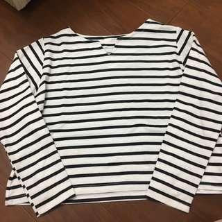 🚚 黑白條紋休閒上衣