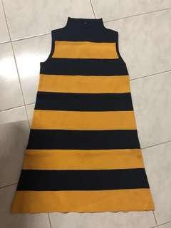 Blue yellow dress