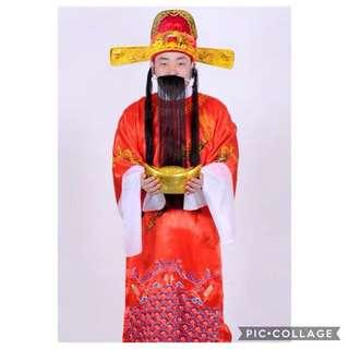 🚚 IN STOCK God of Fortune/ Cai Shen Ye Costume [Chinese]