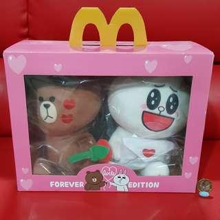 Line Brown and Connie Forever Love Edition MacDonalds Plush Toy