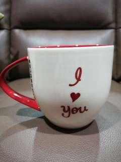 Valentine's Day Starbucks I Love You Mug