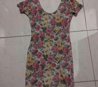 REPRICE! SCOOPBACK FLORAL DRESS