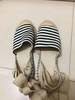 🚚 韓國條紋草編鞋