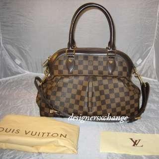 80a4673ac082 Louis Vuitton TREVI PM Damier Tote Bag (N51997) with LV receipt