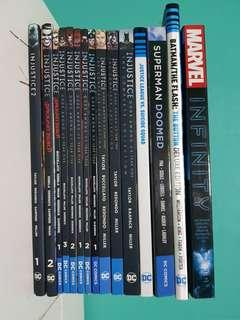 DC INJUSTICE & MARVEL COMICS FOR SALE!!