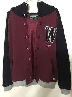 🚚 woodstuck 連帽 棒球外套 非常新