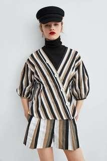Three color stripe blouse