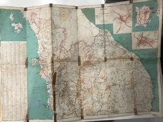 🚚 Vintage Malaya & Singapore Map