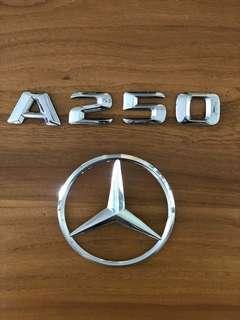 Mercedes A250 Badges & Emblem