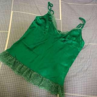 European brand Silk Top with Lace