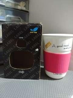 Eco cup w silicon sleeve