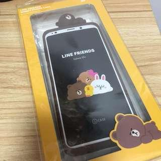 Samsung galaxy s9+ LINE FRIENDS BROWN case 手機殼 手機套
