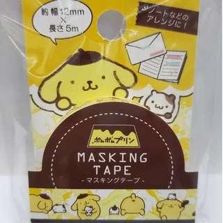 Sanrio Pompompurin 布甸狗 Masking Tape 1卷 Japan Limit