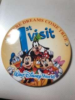 迪士尼襟章 Disneyland  米奇老鼠 唐老鴨 米妮 高飛 1st Visit  來自美國佛羅里達州- 奧蘭多的迪士尼世界WALT Disney World