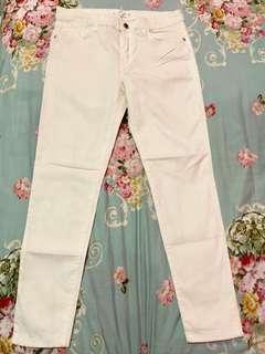 Mango White Trousers