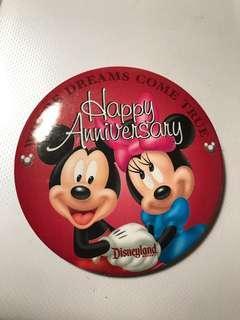 迪士尼襟章 Disneyland  米奇老鼠 米妮 Happy Anniversary  來自美國佛羅里達州- 奧蘭多的迪士尼世界WALT Disney World