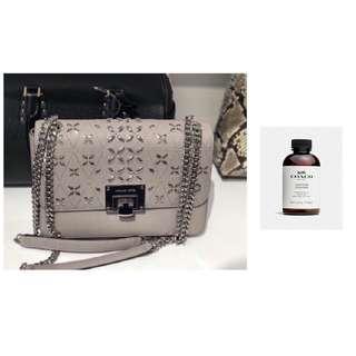 🚚 Michael Kors Tina Medium Shoulder Flap Bag and Coach Leather Cleaner