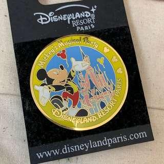 Disney Pin 迪士尼襟章 mickey mouse 巴黎正版